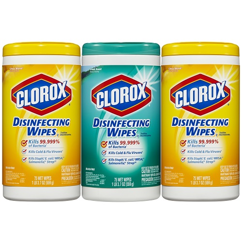 43% off Clorox Wipes Value Pack : $7.99
