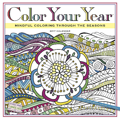 80% off Color Your Year 2017 Calendar : $2.97 + Free S/H