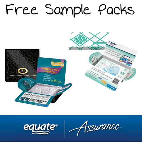 Walmart : Free Equate Pads and Liners Sample Packs