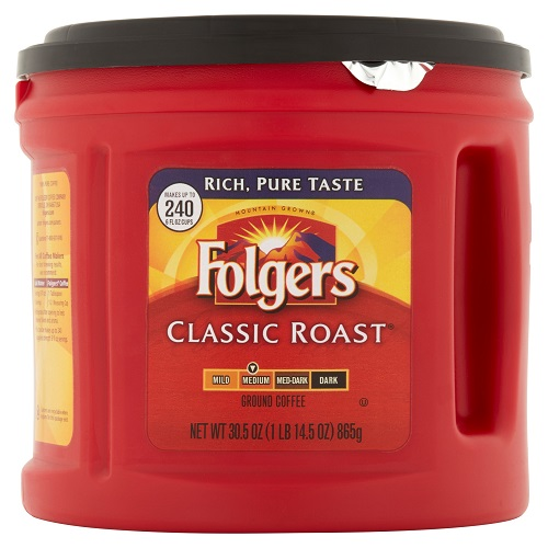 26% off 30.5-OZ Can of Folgers Coffee : $6.99