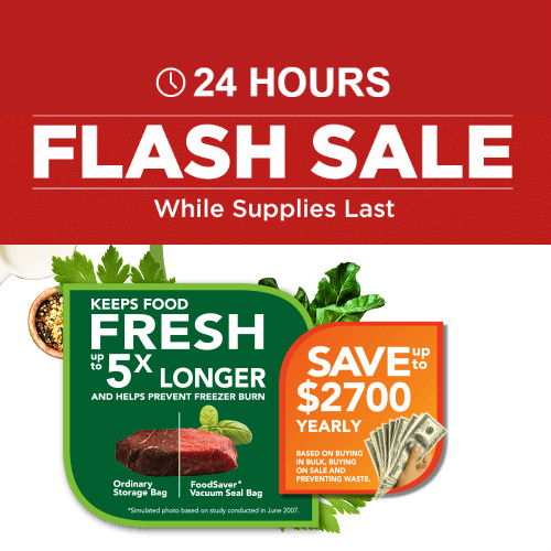 FoodSaver Flash Sale : Up to 60% off + Free S/H