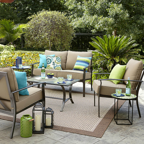 garden oasis harrison 4-piece cushion seating set