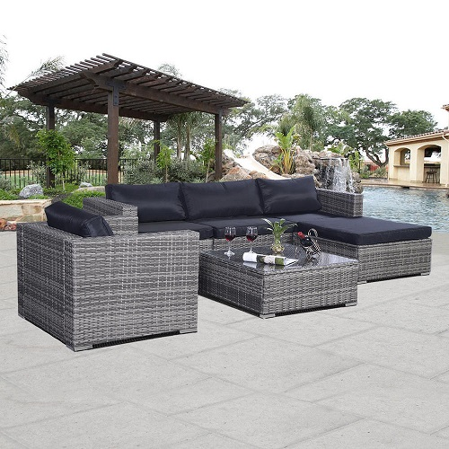 clearance goplus 6pc outdoor furniture set