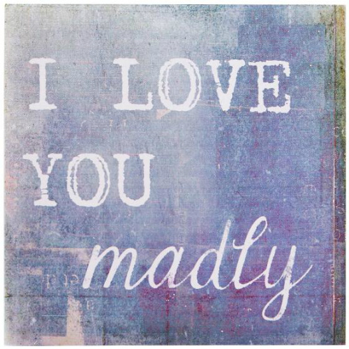 58% off 11″ Square Love You Madly Canvas : $6.74 + Free S/H