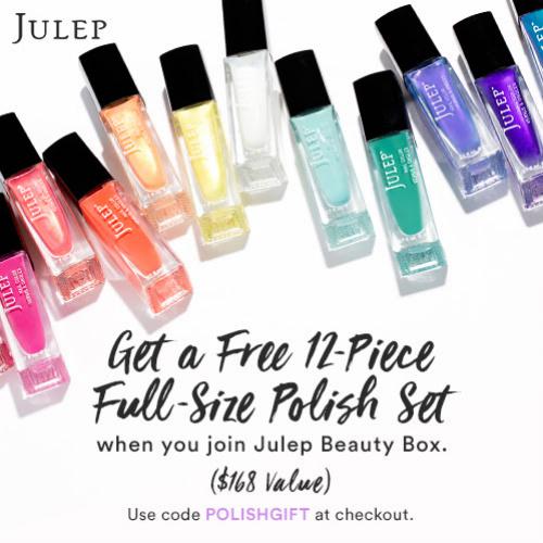 Julep Coupon : Free 12-PC Nail Polish Set ($168 value)