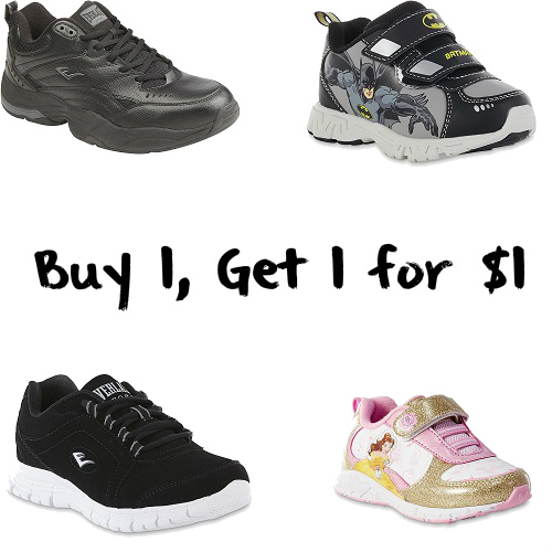 Shoes for the Whole Family : Buy 1, Get 1 for $1
