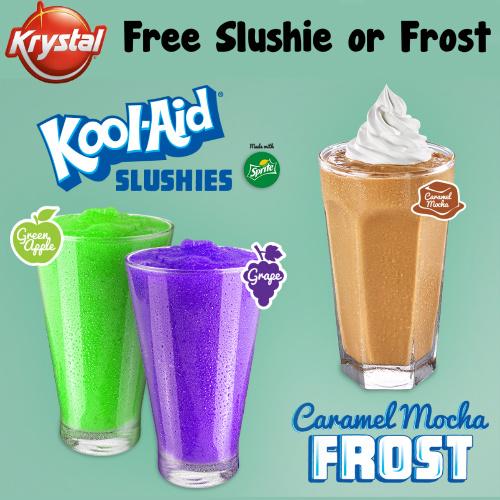 Krystal : Free Slushie or Frost