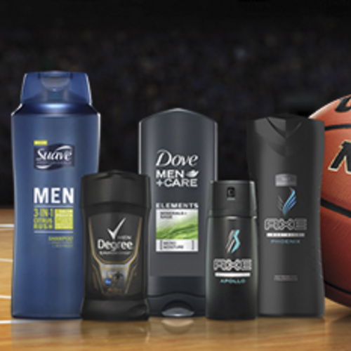 Unilever : Free Dove, Suave, or Axe Men's Product Sample
