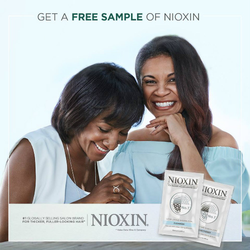 Nioxin : Free Shampoo and Conditioner Samples