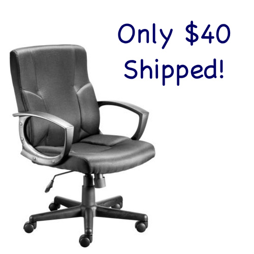 50% off Fabric Managers Chair : $39.99 + Free S/H