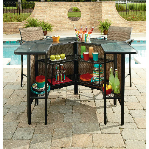outdoor furniture clearance harrison 5-piece bar set