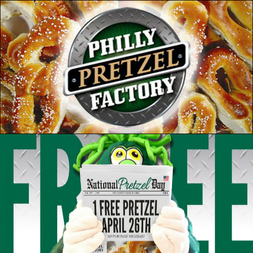 Philly Pretzel Factory : Free Pretzel