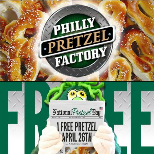 philly pretzel factory free pretzel