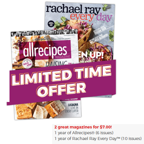 65% off Rachael Ray Every Day & AllRecipes Magazine Subscription Bundle : Only $7
