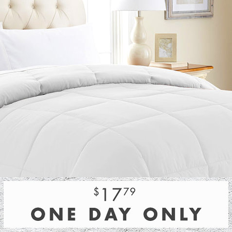 87% off Reversible Down Alternative Comforters : $17.79 any size
