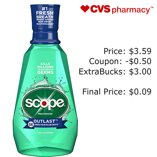 Scope Mouthwash : Only 9¢