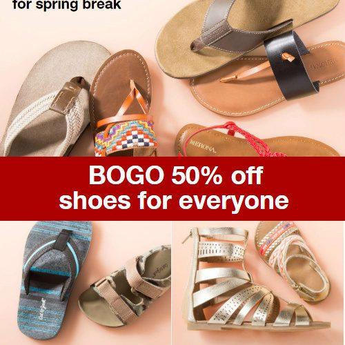 target BOGO shoe sale