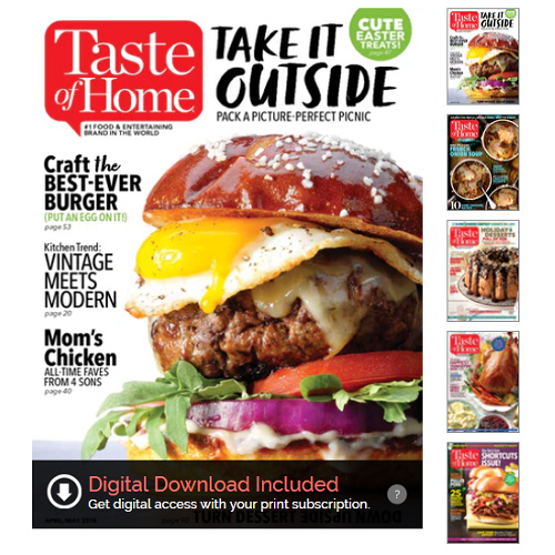 83% off 4-Year Taste of Home Subscription : Only $13.46