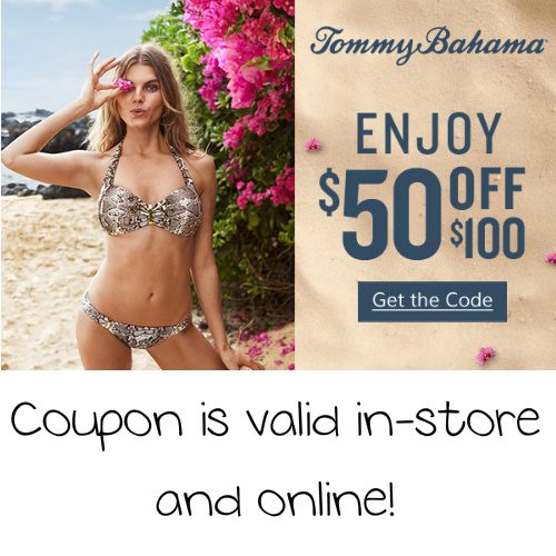 Tommy Bahama Coupon : $50 off $100 or more