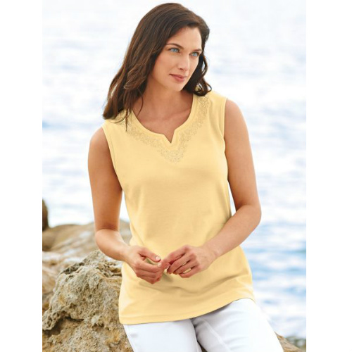 womens embroidered tank top