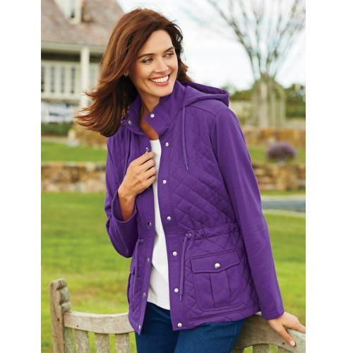 womens quilted fleece jacket