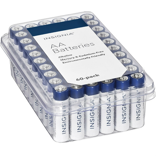 50% off 60-PK of Insignia Batteries : $7.99