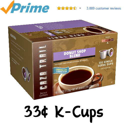 100-PK Caza Trail Coffee K-Cups : Only $33.24