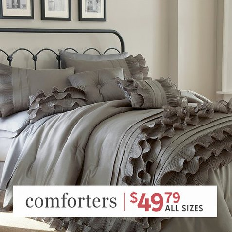 Up to 90% off 8-PC Comforter Sets : Only $49.79 any size