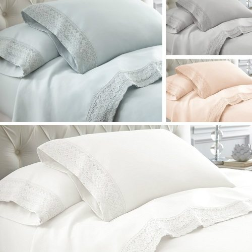 61% off Crochet Lace Sheet Sets : $26.99 Any Size + Free S/H