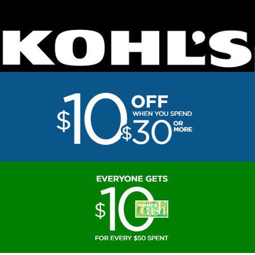 Kohl's : $10 off $30 Coupon