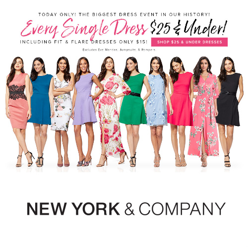 Up to 71% off at New York & Company : All Dresses $15 or $25