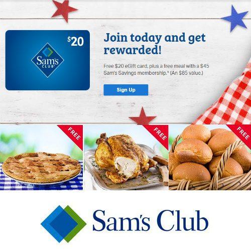 Sam's Club Membership + $20 Gift Card + Free Gifts : $45