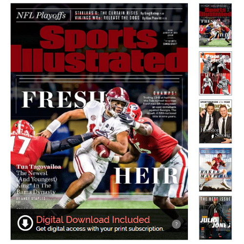 44% off Sports Illustrated Subscription : Only $21.99