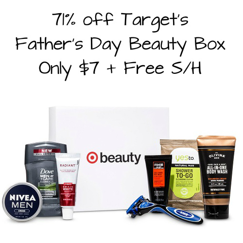 71% off Target Father's Day Beauty Box : $7 + Free S/H