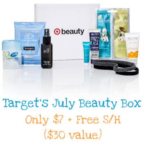 76% off Target July Beauty Box : $7 + Free S/H