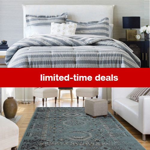 target rugs and bedding sale