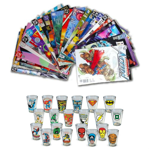 75% off 30-PK of Marvel and DC Comic Books : $29.99 + Free S/H + Free Super Hero Pint Glass