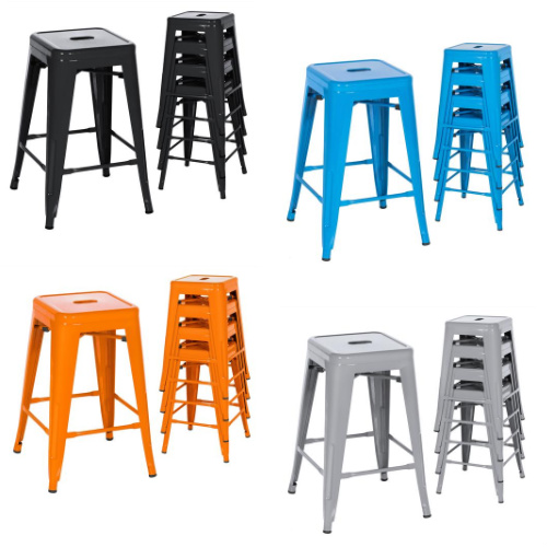 Modern Stackable Backless Counter Height Bar Stools