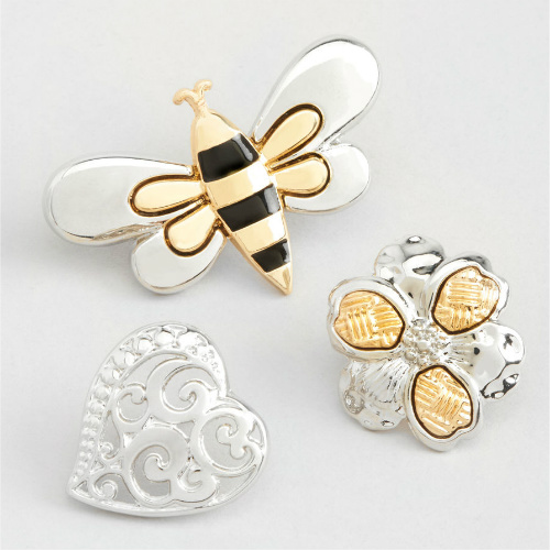 77% off Bumble Bee Scatter Pin Set : $3.49 + Free S/H