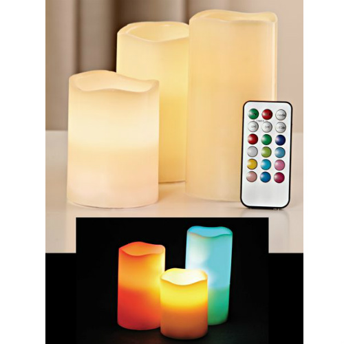40% off Set of 3 Color Changing LED Candles : $11.97 + Free S/H