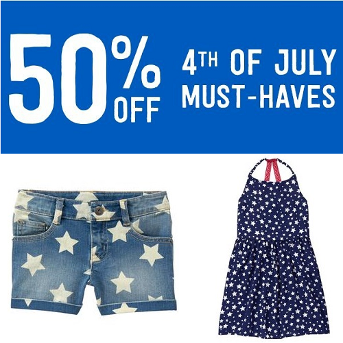 Kids' 4th of July Apparel : 50% off Sale