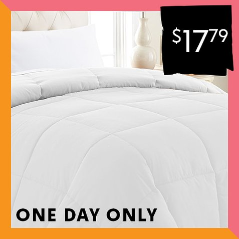 Up to 90% off Down Alternative Comforters : $17.79 any size