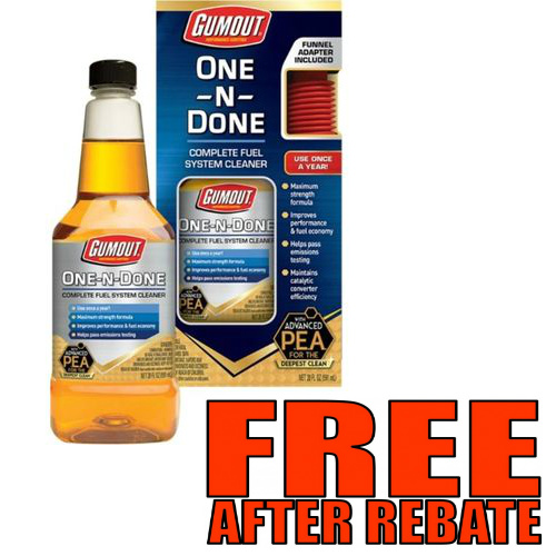 Gumout Fuel Additive and Cleaner : Free after Rebate