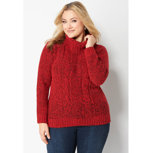 91% off Women's Chenille Plus-Size Sweater : $4.99 + Free S/H