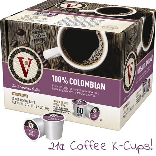 50% off 60-CT Victor Allen's Colombian Coffee K-Cups : Only $12.49
