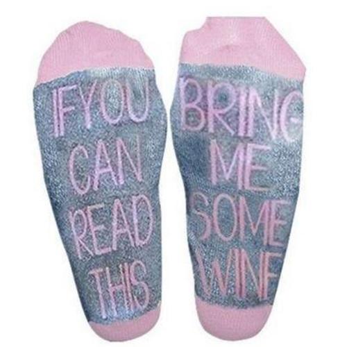 "70% off ""Bring Me Wine"" Socks : $7.50 + Free S/H"