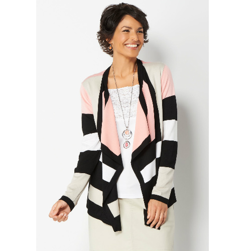 74% off Women's Draped Blocked Cardigan Sweater : $12.97 + Free S/H