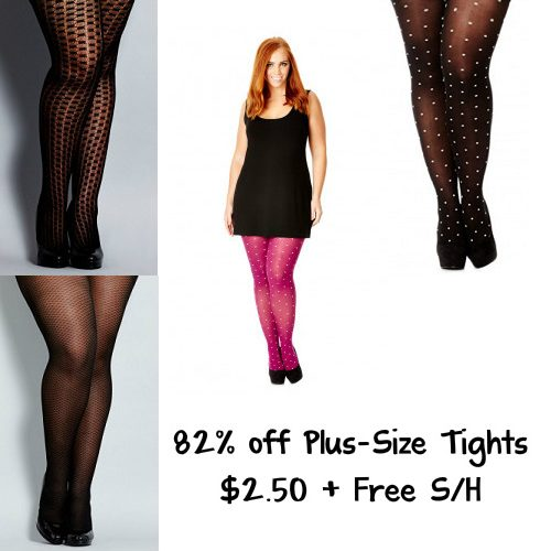 Up to 82% off Women's Plus-Size Tights : $2.50 + Free S/H