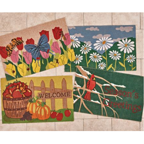 78% off Set of 4 Seasons Doormats : $19.97 + Free S/H
