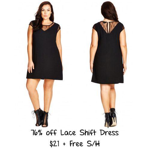 76% off Women's Lace Shift Dress : $21 + Free S/H
